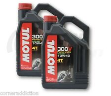 Motul 300V 4T Full Synthetic Motorcycle Oil 10W-40 8 Liter liter 2 one US gallon