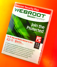 Internet Security Plus Webroot Secure Anywhere 1-Year 3 Devices #2054