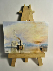 The Fighting Temeraire 1838 ACEO Original PAINTING by Ray Dicken a JMW Turner