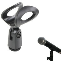 Flexible Rubberized Plastic Mic Clips Holder For Instrument Microphone Stand ❤