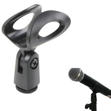 Flexible Rubberized Plastic Mic Clips Holder For Instrument Microphone Stand