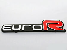 Honda Euro R Emblem Badge Sticker logo decal ACCORD Civic Acura RSX JDM 3D