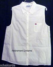 MATERNITY Womans Top Shirt XL NEW NURSING White US Flag Extra Large Pocket