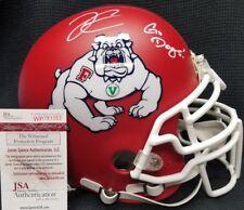 DEREK CARR Autographed Fresno State Bulldogs Full Size Custom Helmet.WITNESS JSA