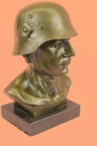 HotCast Lost Wax Method Vienna Bronze German Soldier Bronze Figurine Statue DEAL