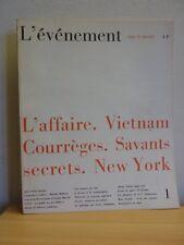 Revue L'événement n° 1  1966 * Vietnam Savants secrets L'affaire Ben Barka