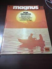 Vtg Magnus organ Corp Songbook: Pop Favorites #6, 1971