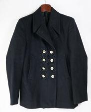 Manteau CABAN marine ABL t 52 (L) vintage Belgian army woolen pea coat s.42