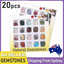 20x Crystal Gemstone Polished Healing Chakra Stone Collection Display Set AU