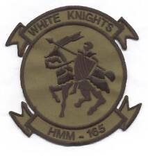 """HMM-165 """"WHITE KNIGHTS""""  subdued #1 heritage patch"""