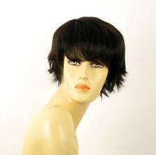 perruque femme 100% cheveux naturel carré méchée noir/cuivré CYNTIA 1b30