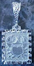 Cancer Zodiac Pendant Charm Real Solid Sterling silver 925 Ancient Carving LOOK