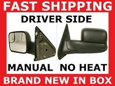 MIRROR 02-08 RAM TOW TOWING Driver Left Side MANUAL NEW