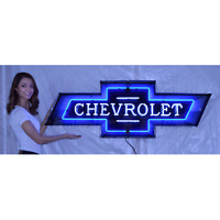 "Chevy Bowtie Neon sign steel can Chevrolet 100th Anniversary 60"" Dealership"