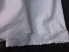 culotte blanche pas fendue dentelle VALENCIENNE GRANDE TAILLE tour taille 150cm