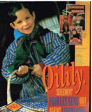 Publicité Advertising 1992 Pret à porter vetement pour enfant Oilily