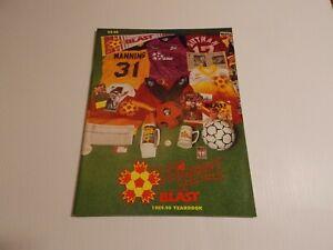 1989 - 1990 BALTIMORE BLAST MISL SOCCER Magazine Yearbook Signed Inside