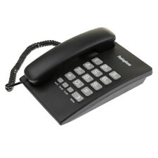 Portable Corded Telephone Home Phone Pause, Redial, Flash Wall Mount Black