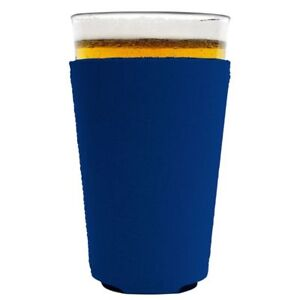 Blank Neoprene Collapsible Pint Glass Coolie; Choice of Color, Quantity Discount