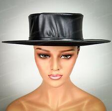 Steampunk Plague Doctor Flat Top Hat Halloween Cosplay Hat Adult Men Women Black