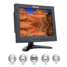 "8"" 1024x768 IPS LCD Color Monitor HDMI VGA AV Ypbpr For DVD PC VCD CCTV Banking"