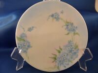 HERMANN OHME SELESIA GERMANY PORCELAIN PLATE HAND-PAINTED BLUE WHITE FLORAL