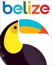 BELIZE  Central America    Sticker Vintage Looking Travel Decal  Luggage Label
