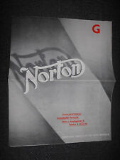 Prospekt Sales Brochure Norton Modelle 1936 Technische Daten Motrrad Bike Moped