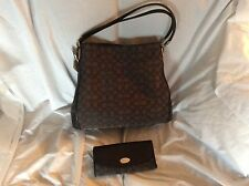 NWT COACH F36184 Signature Phoebe Handbag & Wallet F53538 Black/ Smoke Black