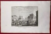 Massacre Montauban 1790 Révolution Française Rare Gravure Tarn et Garonne