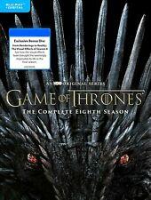 Brand New Sealed Game Of Thrones Season 8 Blu-ray + Digital