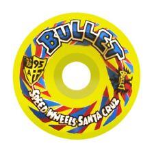 Santa Cruz Bullet Church Glass Skateboard Wheels 60mm 95a Yellow