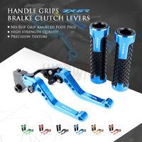 for KAWASAKI NINJA ZX6R 636 07-18 Short Brake Clutch Levers New Handle Grips
