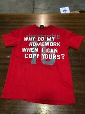 ABECROMBIE & FITCH - BRAND NEW RED SHORT-SLEEVE T-SHIRT- SIZE TEEN MEDIUM