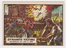 1962 TOPPS CIVIL WAR NEWS CARD #86 DYNAMITE VICTIMS