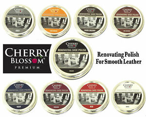 Cherry Blossom renovating shoe polish available in all colours