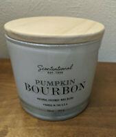 Scentsational PUMPKIN BOURBON Coconut Wax Blend Manly Candle XL 3-Wick 26 oz