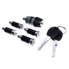 Ignition Switch Lock Barrel & 4 Door Lock & Key For VW Transporter Mk4 EuroVan