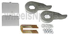 "Lift Kit Chevy Front Torsion Keys 2"" Rear Aluminum Blocks 2000 - 10 Truck 8 Lug"