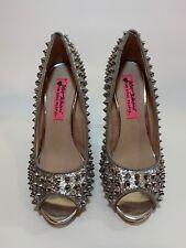 51196928612b Betsey Johnson C-ELLINA SILVER Women s Shoe Size 6