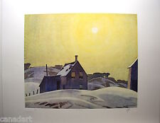 A.J.CASSON group of seven SIGNED WINTER SUN LE art numbered Platinum edition