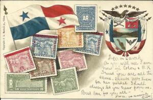 Panama Canal Zone Sc#17(type d)#16b(type c) Cristobal JUL/13/1906 multicolo