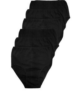 LisaModa Damen Taillenslip 6er Pack Stretch Baumwolle bequeme Passform Seamless