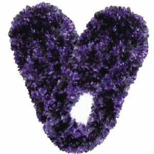 Fuzzy Footies Super Soft Slippers with Slip-Resistant Bottom - Purple and Black
