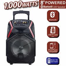 "8"" Wireless Portable Party Bluetooth Speaker Heavy Bass Sound USB/TF Card/FM/AUX"