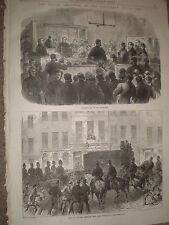 Fenian Clerkenwell prison bombers at Bow Street london 1868 old print ref Z1