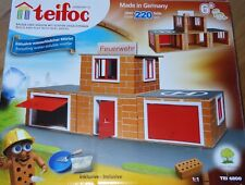 Fire Station Teifoc Brick & Mortar Construction Building Toy Set TEI4800