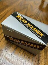 Konica Macro-Hexanon AR 55mm F3.5 With Macro Lens Adapter AR -