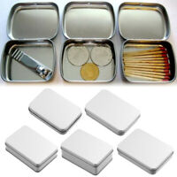 Sealed Container Small Tin Empty Case Coin Candy Keys Metal Storage Box Jewelry