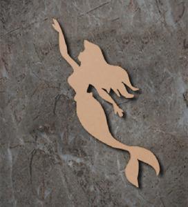 Large MDF Mermaid Wooden Shape Blank Wood 20 30 40 50 60cm Unpainted